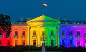 Casa Blanca de los EEUU multicolor