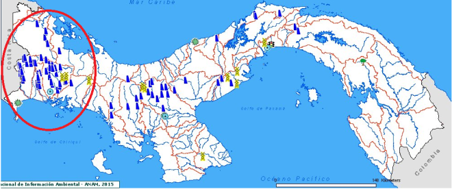 Fig.1 MDL aprobados por el Ministerio de Ambiente de la República de Panamá http://mapserver.anam.gob.pa/website/mdl/viewer.htm